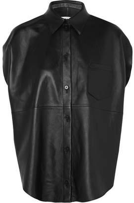 MM6 MAISON MARGIELA Leather Shirt - Black