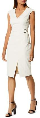 Karen Millen Cap Sleeve Faux-Wrap Dress
