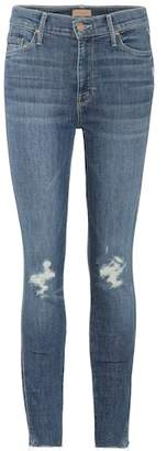 Mother Vamp Fray cropped skinny jeans