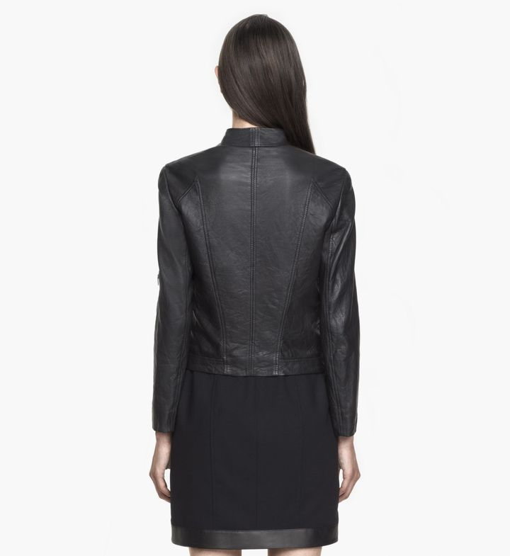 Helmut Lang Washed Leather Moto Jacket
