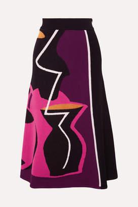 Roksanda Jacquard-knit Midi Skirt - Black