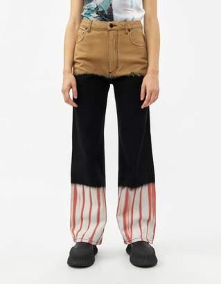 Eckhaus Latta Wide Leg Jean in Tri-Stack