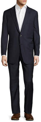 Hickey Freeman Wool Solid Woven Suit