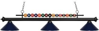 Pool' Red Barrel Studio Chapa 3-Light Pool Table Lights Linear Pendant Red Barrel Studio