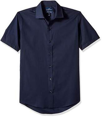 Buttoned Down Men's Slim Fit Stretch Spread-Collar Short-Sleeve Non-Iron Shirt