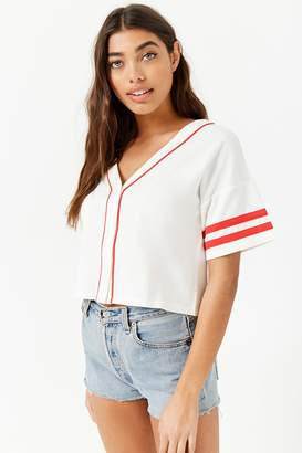 Forever 21 Varsity Stripe Baseball Jersey