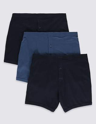 """Marks and Spencer 3 Pack Pure Cotton Trunks with StayNEWâ""""¢"""