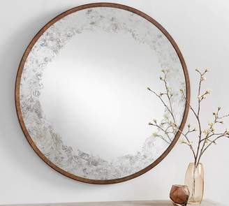 Pottery Barn Detroit Antiqued Round Mirror