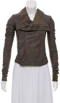 Rick Owens Leather Zip-Up Jacket