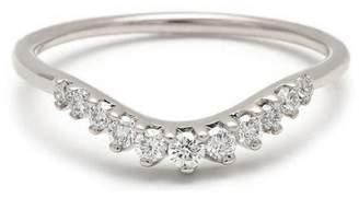 Anna Sheffield White Diamond Tiara Curve Band Ring - White Gold
