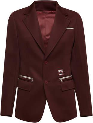Prada Zip Jersey Blazer