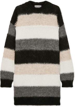 Sonia Rykiel Oversized Striped Mohair-blend Sweater - Black