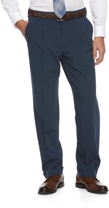 Croft & Barrow Big & Tall True Comfort 4-Way Stretch Classic-Fit Pleated Dress Pants