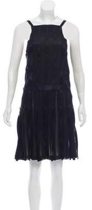 Chanel Satin-Trimmed Silk Dress