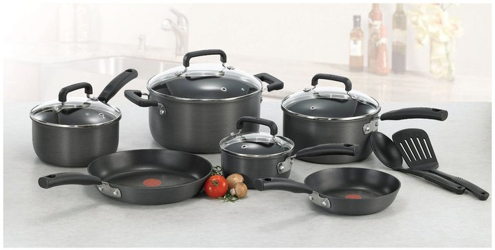 T-Fal Signature Hard Anodized Cookware Set 12pc