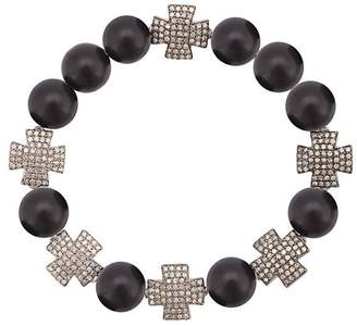 Loree Rodkin onyx cross charm bracelet
