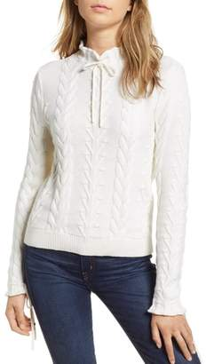 1901 Cotton Wool Blend Cable Sweater