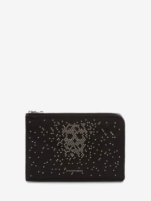 Alexander McQueen Studded Small Zip Leather Document Holder