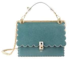 Fendi Scalloped-Edge Leather Crossbody Bag