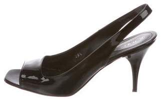 Tod's Patent Leather Slingback Sandals