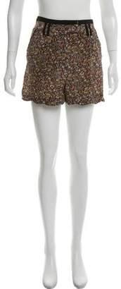 The Kooples Floral Silk Mini Shorts