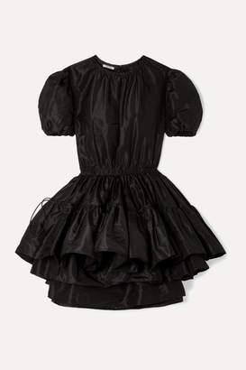 Miu Miu Layered Silk-taffeta Mini Dress - Black