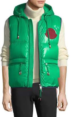 Moncler Men's Lorent Double-Hood Puffer Vest