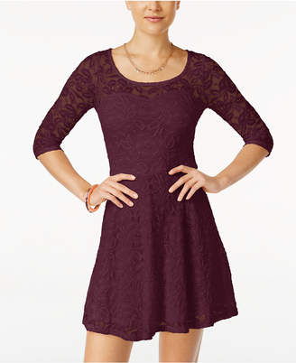Material Girl Lace Illusion Skater Dress $49.50 thestylecure.com