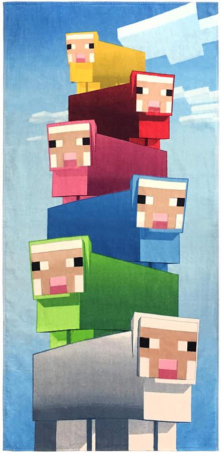 Minecraft Rainbow Sheep Cotton Beach Towel - Kids
