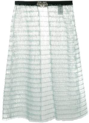 Tu Es Mon Trésor sheer apron layered skirt