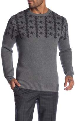 Ben Sherman Long Sleeve Dogtooth Crew Neck Sweater
