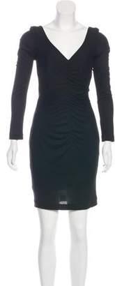 Rene Lezard Long Sleeve Ruched Dress