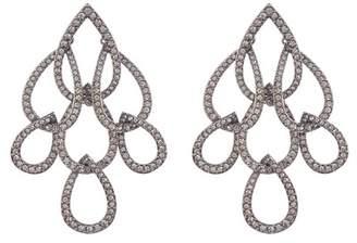 Nadri Twining Crystal Teardrop Chandelier Earrings