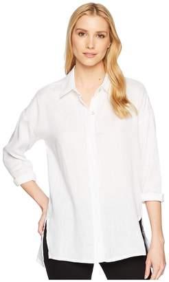 Elliott Lauren Handkerchief Linen Shirt Women's Long Sleeve Button Up