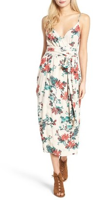Women's Hinge Midi Wrap Dress $79 thestylecure.com