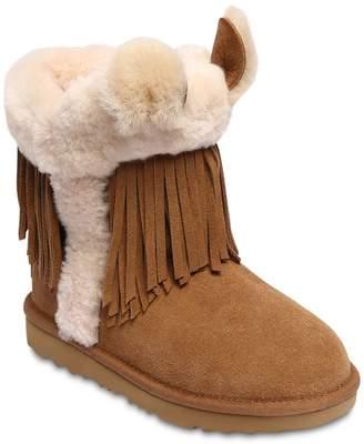 UGG Shearling Boots W/ Fringe & Ears