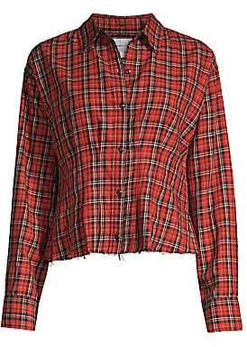 Current/Elliott Women's Tella Tartan Button-Down Shirt