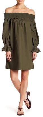 Soprano Off-the-Shoulder Poplin Dress $56 thestylecure.com