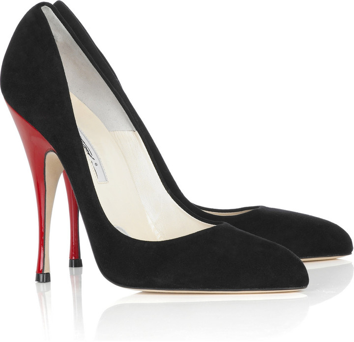 Brian Atwood Starlet suede pumps