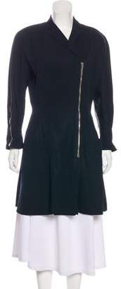 Gianni Versace Wool Notch-Lapel Coat