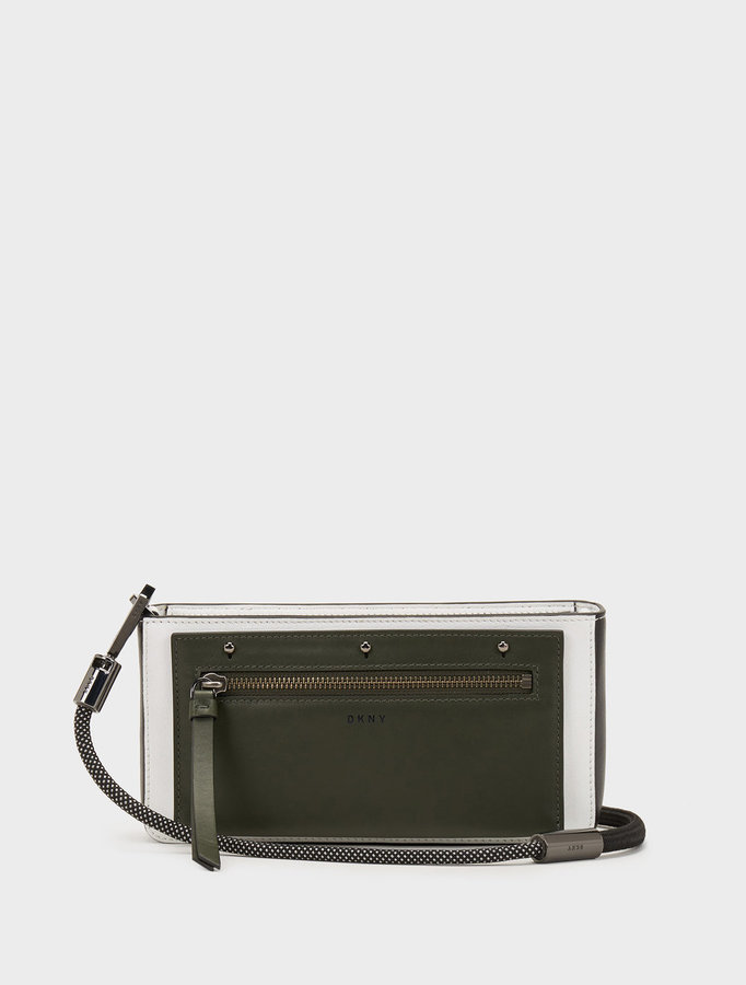 DKNY Small Nappa Bungee Rope Colorblock Crossbody