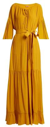 Albus Lumen - Lolita Bell Sleeved Tiered Dress - Womens - Yellow