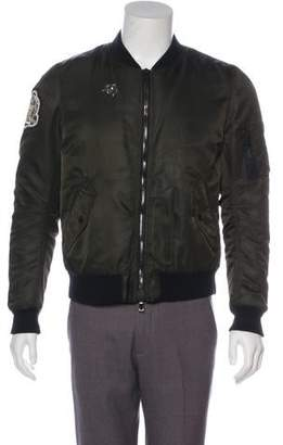 Balmain Patch-Embroidered Bomber Jacket