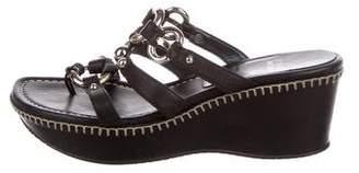 Stuart Weitzman Leather Thong Sandals
