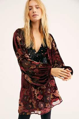 Last Letter Burnout Velvet Mini Dress