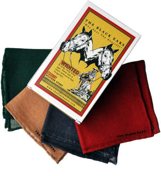 The Black Ears The Western Colours Wool Pocket Squares (Set of 4)