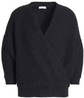 Brunello Cucinelli Wrap-Effect Ribbed Cashmere Sweater