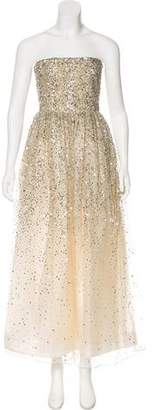 Alice + Olivia Embellished Strapless Gown