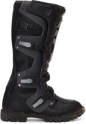 Balenciaga Black High Moto Boots