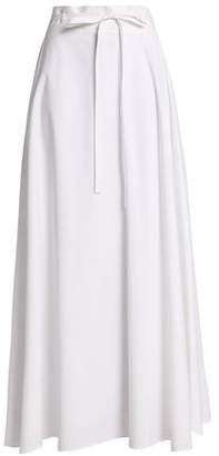 Theory Fluted Stretch-cotton Poplin Midi Skirt